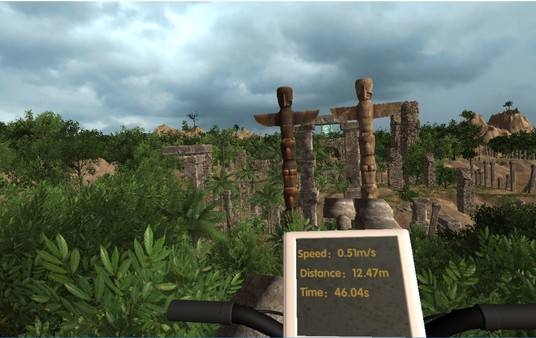 VR health care (aerobic exercise): VR sport and cycling in Maya gardens - 3