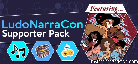 LudoNarraCon Supporter Pack featuring Cyrano