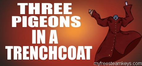 Three Pigeons in a Trench Coat